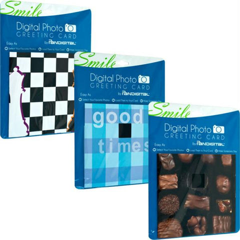 Digital Photo Greeting Cards by Pandigital Set of 3