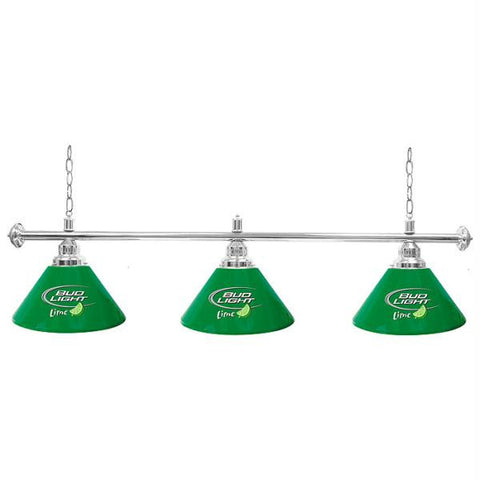 Bud Light Lime 60 Inch 3 Shade Billiard Pool Table Lamp