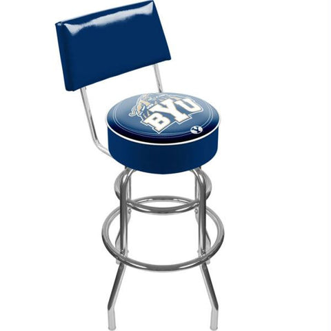 Brigham Young University Padded Swivel Bar Stool with Back