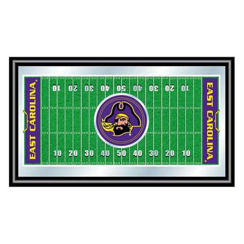 East Carolina University Framed Football Field Mirror