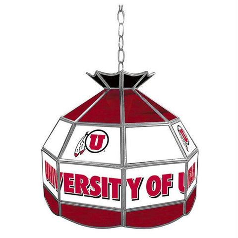 University of Utah Stained Glass Tiffany Lamp -16 Inch