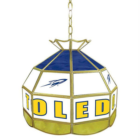 University of Toledo Stained Glass Tiffany Lamp - 16 Inch