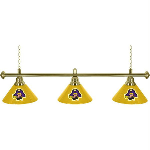 East Carolina University 3 Shade Billiard Lamp - 60 inches
