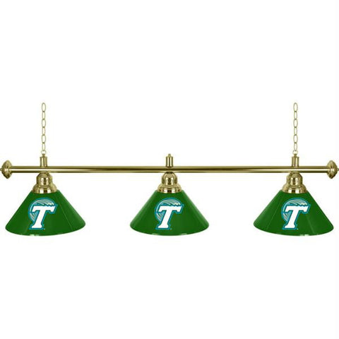 Tulane University 3 Shade Billiard Lamp - 60 inches