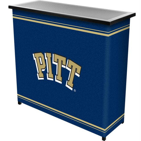 University of Pittsburgh 2 Shelf Portable Bar w- Case