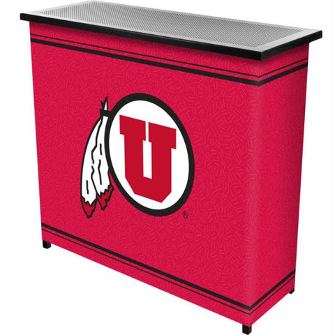 University of Utah 2 Shelf Portable Bar w- Case