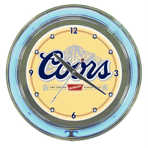 Coors Banquet 14-inch Neon Wall Clock