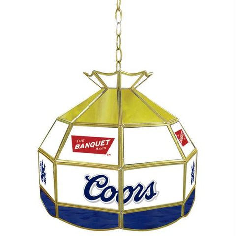 Coors Banquet Stained Glass Tiffany Lamp - 16 inch diameter