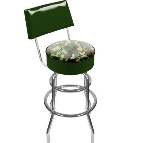 Hunt Camo Padded Swivel Bar Stool with Back