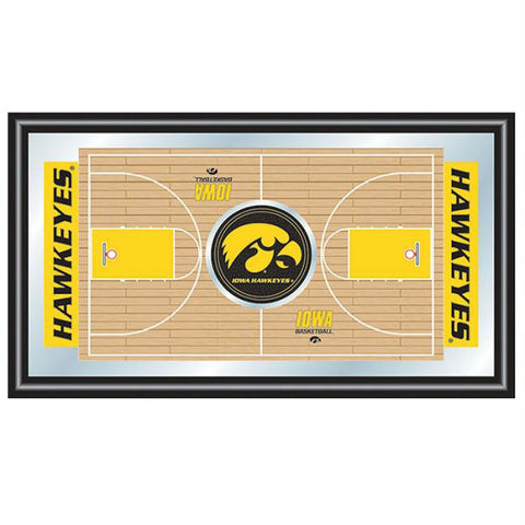 University of Iowa Basketball Framed Full Court Mirror