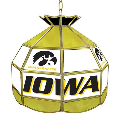 University of Iowa Stained Glass Tiffany Lamp - 16 Inch