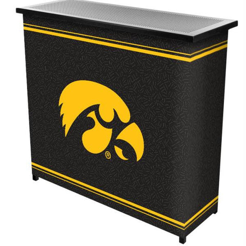 University of Iowa 2 Shelf Portable Bar w- Case