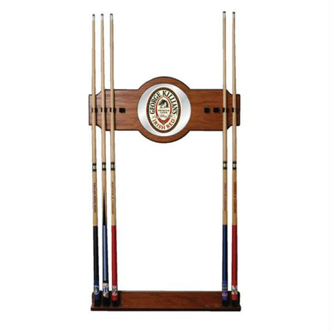George Killians 2 piece Wood and Mirror Wall Cue Rack