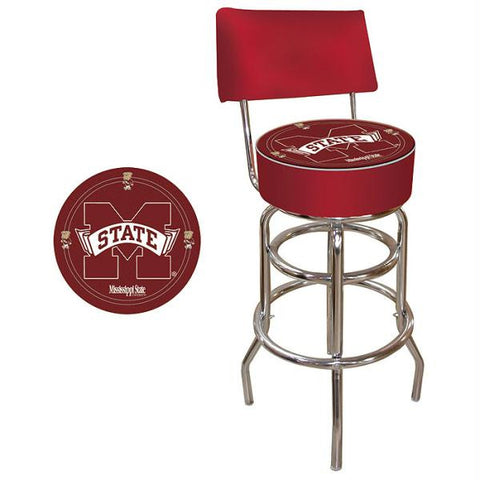 Mississippi State University Padded Bar Stool with Back