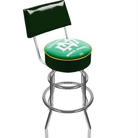 University of North Dakota Padded Bar Stool with Back
