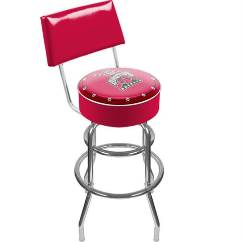 The Ohio State University Padded Bar Stool with Back -Brutus