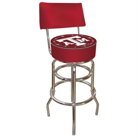 Texas A&M University Padded Bar Stool with Back