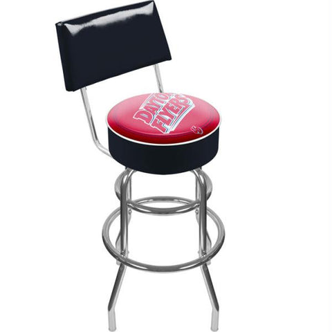 University of Dayton Padded Bar Stool with Back