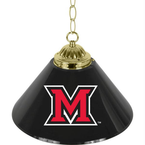 Miami University Single Shade Bar Lamp - 14 inch