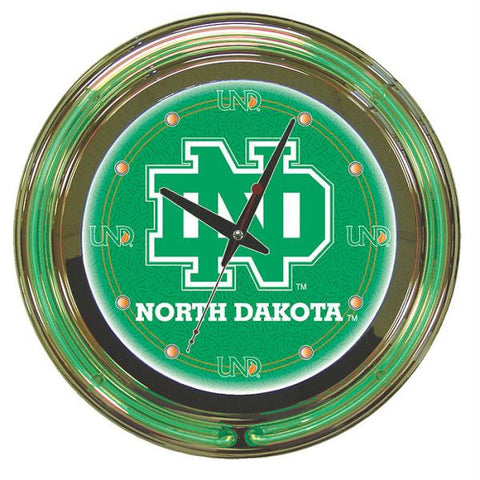 University of North Dakota Neon Clock - 14 Inch Diameter