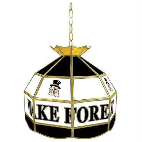 Wake Forest University Stained Glass Tiffany Lamp - 16 Inch