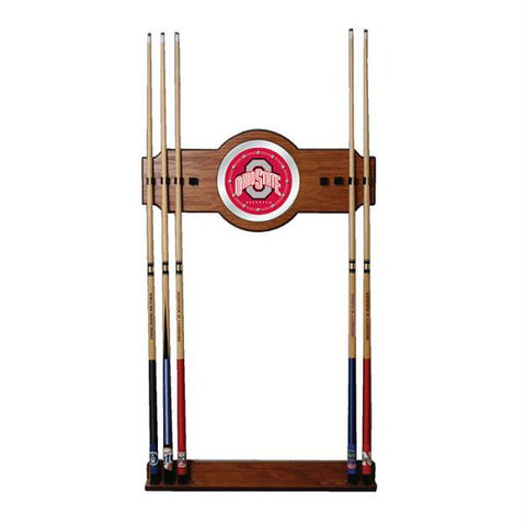 The Ohio State University Wood and Mirror Wall Cue Rack