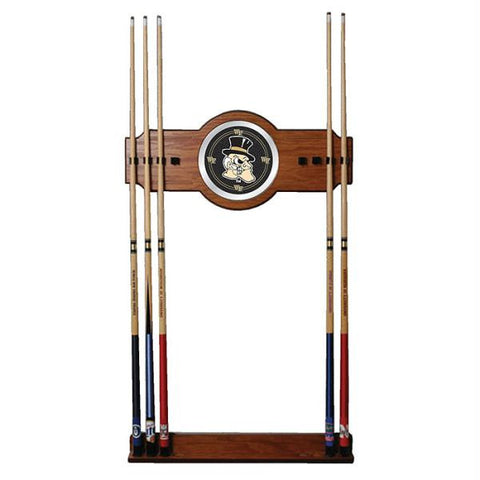 Wake Forest University Wood and Mirror Wall Cue Rack