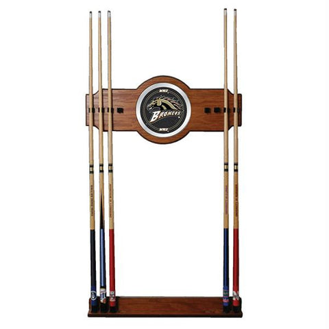Western Michigan University Wood and Mirror Wall Cue Rack