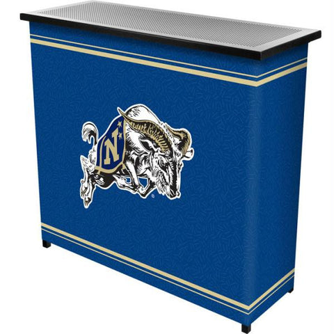 United States Naval Academy 2 Shelf Portable Bar w- Case