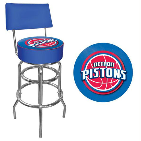 Detroit Pistons NBA Padded Swivel Bar Stool with Back