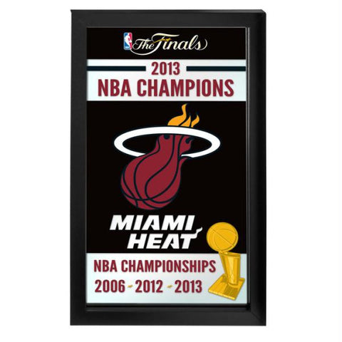Miami Heat 2013 NBA Champions NBA Framed Logo Mirror