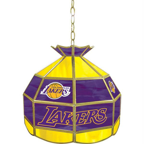 Los Angeles Lakers NBA 16 inch Tiffany Style Lamp