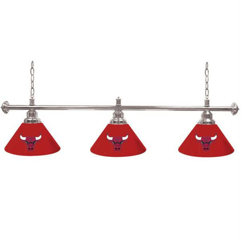 Chicago Bulls NBA 3 Shade Billiard Lamp - 60 inches