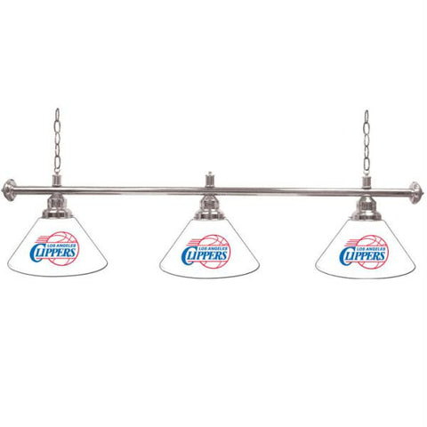 Los Angeles Clippers NBA 3 Shade Billiard Lamp - 60 inches