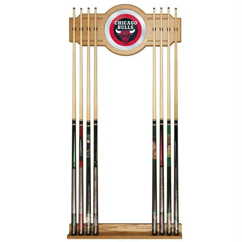 Chicago Bulls NBA Billiard Cue Rack with Mirror