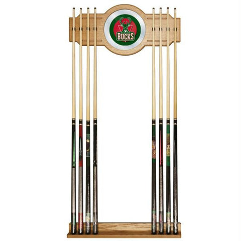 Milwaukee Bucks NBA Billiard Cue Rack with Mirror