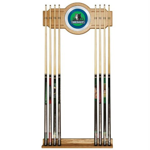 Minnesota Timberwolves NBA Billiard Cue Rack with Mirror