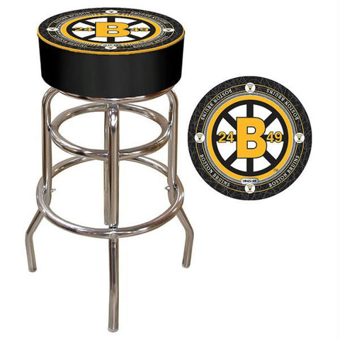 NHL Throwback Boston Bruins Padded Bar Stool
