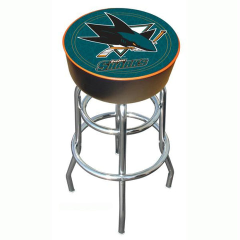 NHL San Jose Sharks Padded Bar Stool