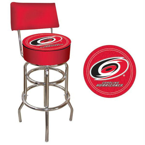 NHL Carolina Hurricanes Padded Bar Stool with Back