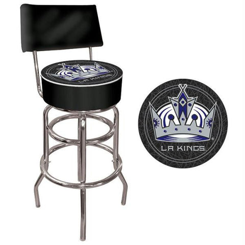 NHL Los Angeles Kings Padded Bar Stool with Back
