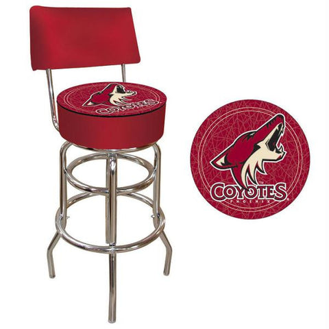 NHL Phoenix Coyotes Padded Bar Stool with Back