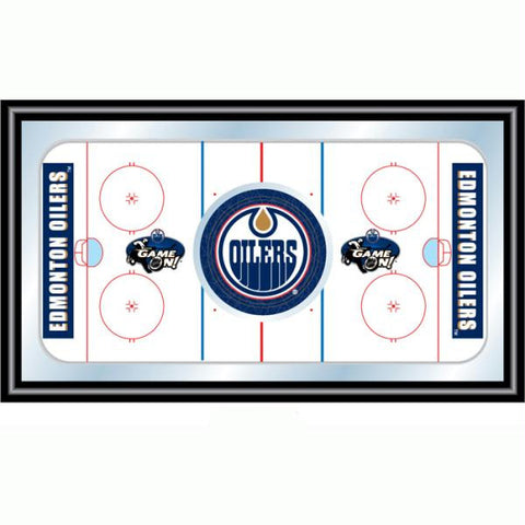 NHL Edmonton Oilers Framed Hockey Rink Mirror