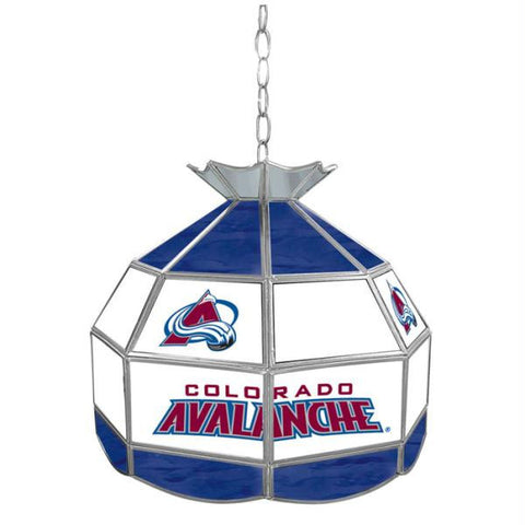 NHL Colorado Avalanche Stained Glass Tiffany Lamp - 16 inch