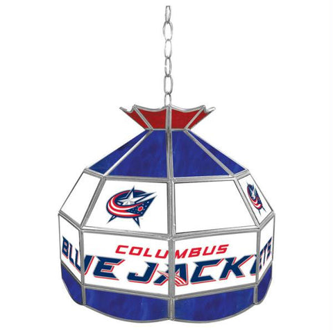 NHL Columbus Blue Jackets Stained Glass Tiffany Lamp - 16 in