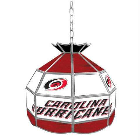 NHL Carolina Hurricanes Stained Glass Tiffany Lamp - 16 inch