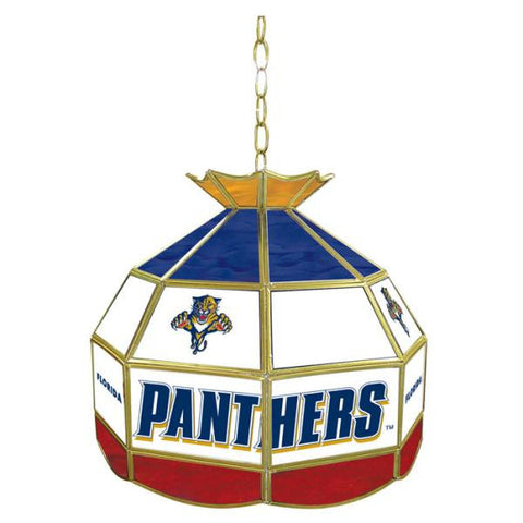 NHL Florida Panthers Stained Glass Tiffany Lamp - 16 inch di