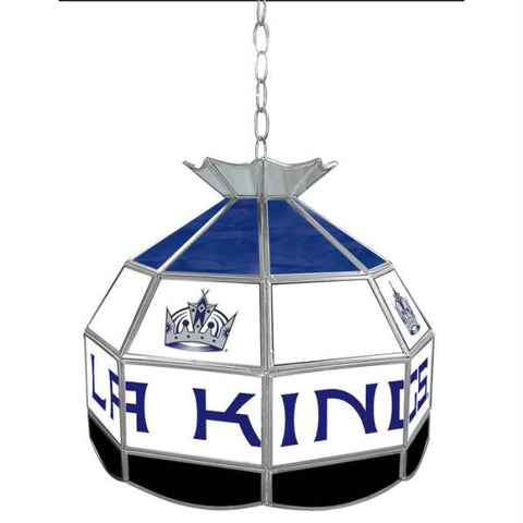 NHL Los Angeles Kings Stained Glass Tiffany Lamp - 16 inch d