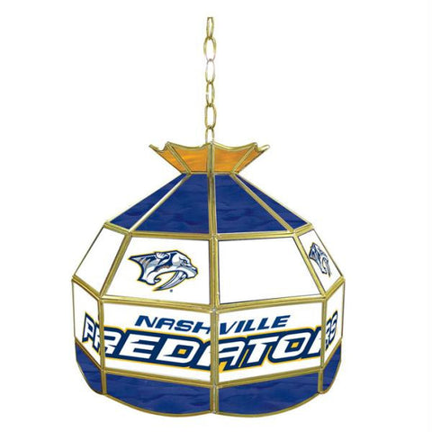 NHL Nashville Predators Stained Glass Tiffany Lamp - 16 inch