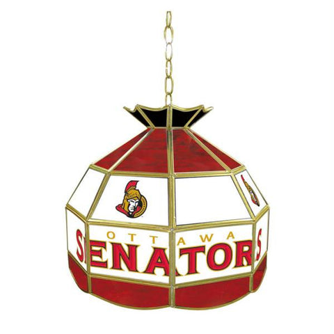 NHL Ottawa Senators Stained Glass Tiffany Lamp - 16 inch dia